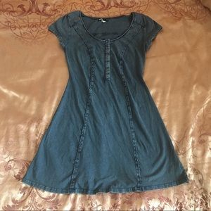 Urban Outfitters BDG Blue Jean-Look Skater Dress S